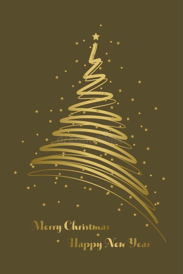 Christmas card background royalty free illustration