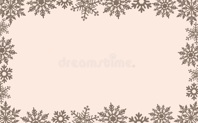 Christmas card background decoration border snowflakes glitter New year royalty free stock images