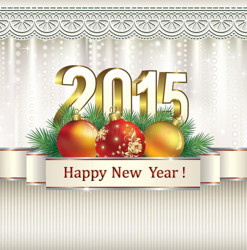 Christmas card 2015 vector illustration