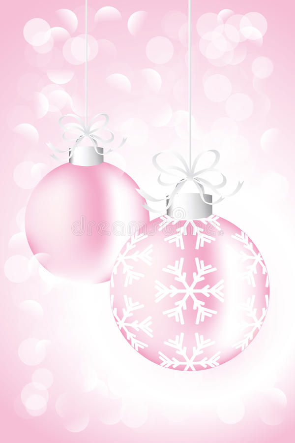 Christmas card with baubles. Eps10 vectors vector illustration