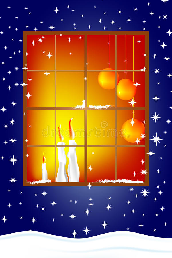 Download Christmas Card With Candles Stock Vector - Illustration of candles, winter: 11261961