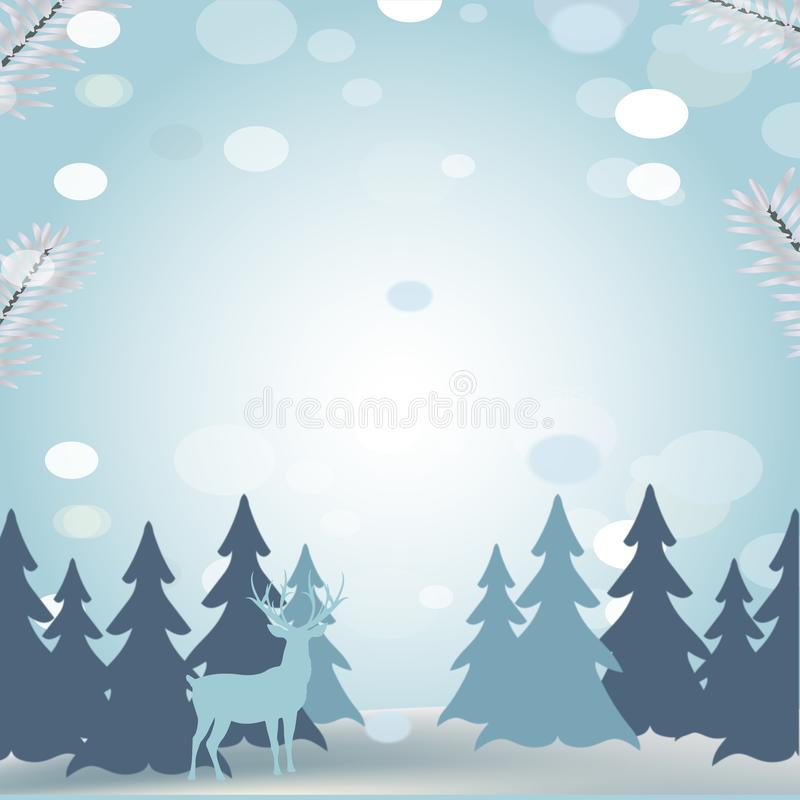 Winter scene Christmas card vector illustration