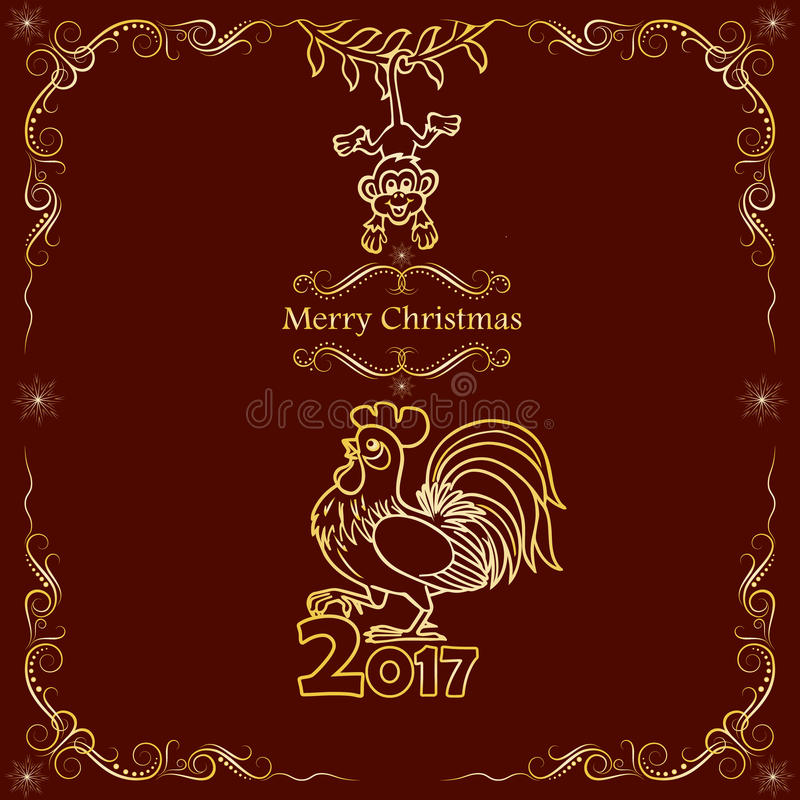 Christmas card design 2017 chinese new year of the rooster stock download christmas card design 2017 chinese new year of the rooster stock vector m4hsunfo