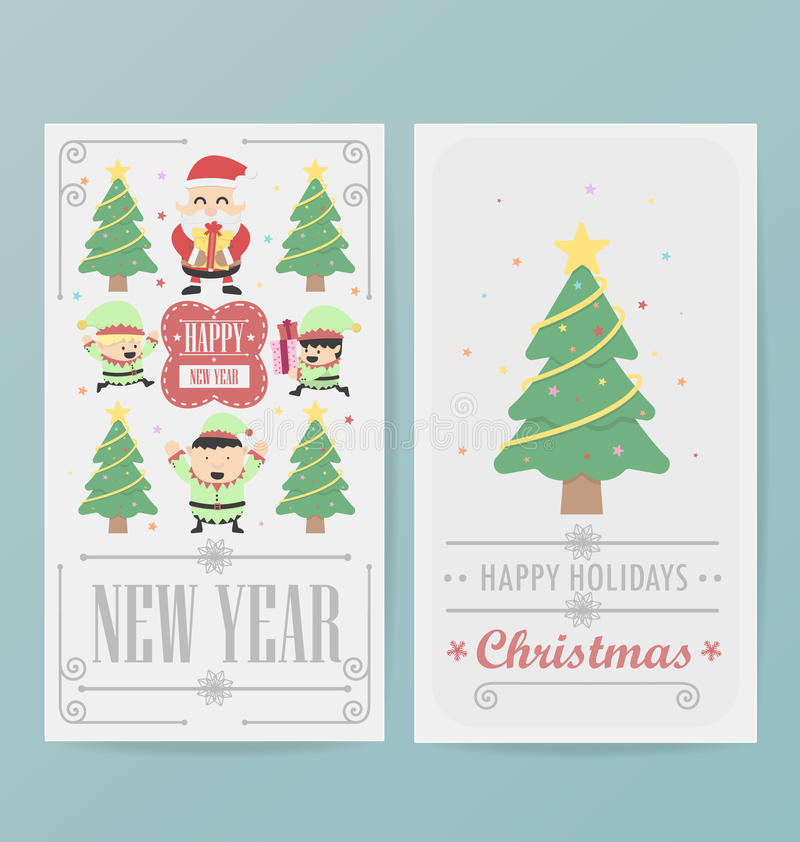 Attractive Download Christmas Card Design Layout Template Stock Vector   Illustration:  47571117 To Christmas Card Layout
