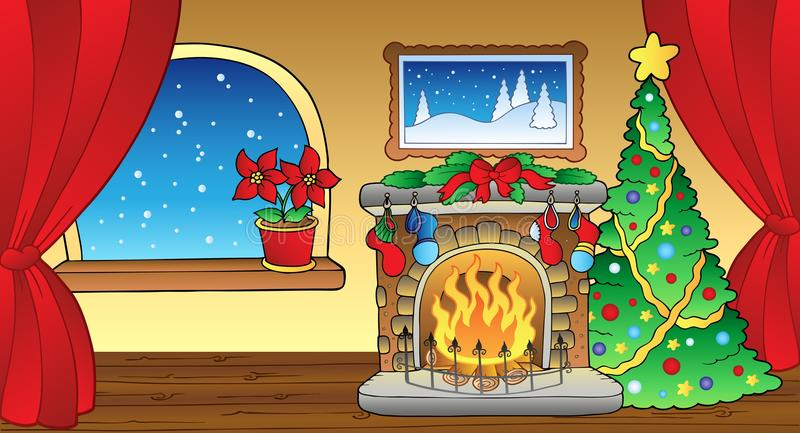 Download Christmas Card With Fireplace 2 Stock Vector - Illustration: 17279458
