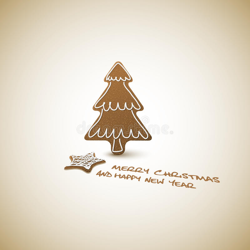 Download Christmas Card - Ginger Breads With White Icing Stock Vector - Image: 22333477