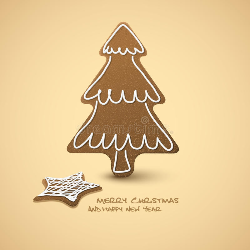 Download Christmas Card - Gingerbreads Stock Illustration - Illustration of candy, decoration: 22017386