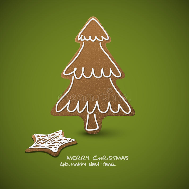 Download Christmas Card - Gingerbreads With White Icing Stock Illustration - Illustration: 21922880