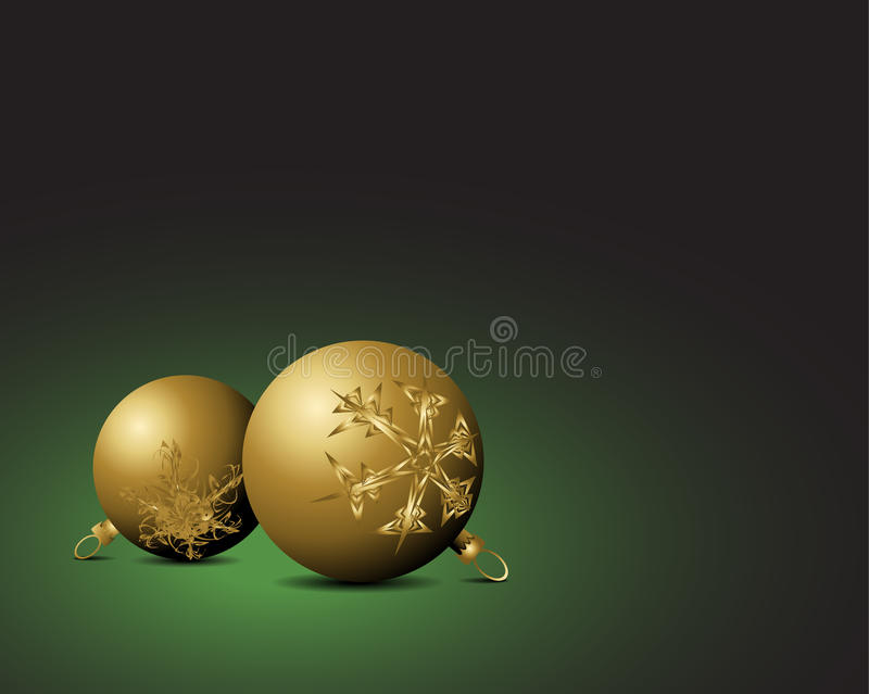 Download Christmas Card - Golden Bulbs Stock Vector - Image: 11833098