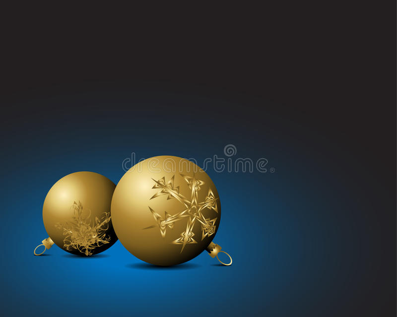 Download Christmas Card - Golden Bulbs With Snowflakes Orna Stock Vector - Illustration of light, luxury: 11676049