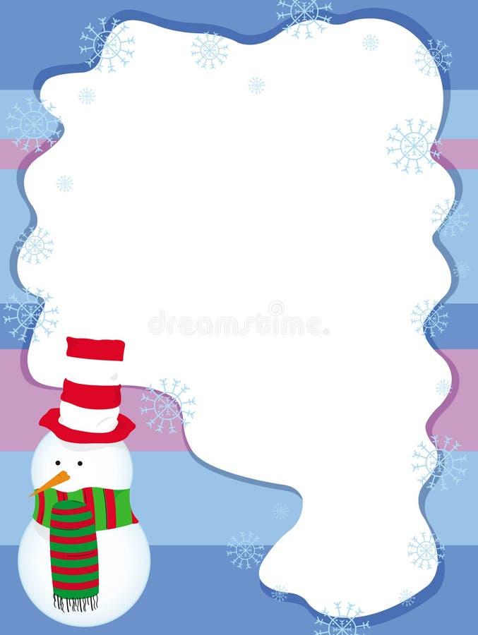 Christmas card, invitation with snowman vector stock photos