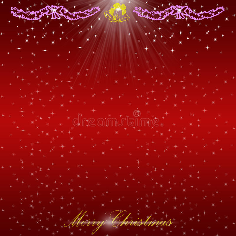 Christmas card on light background royalty free stock image