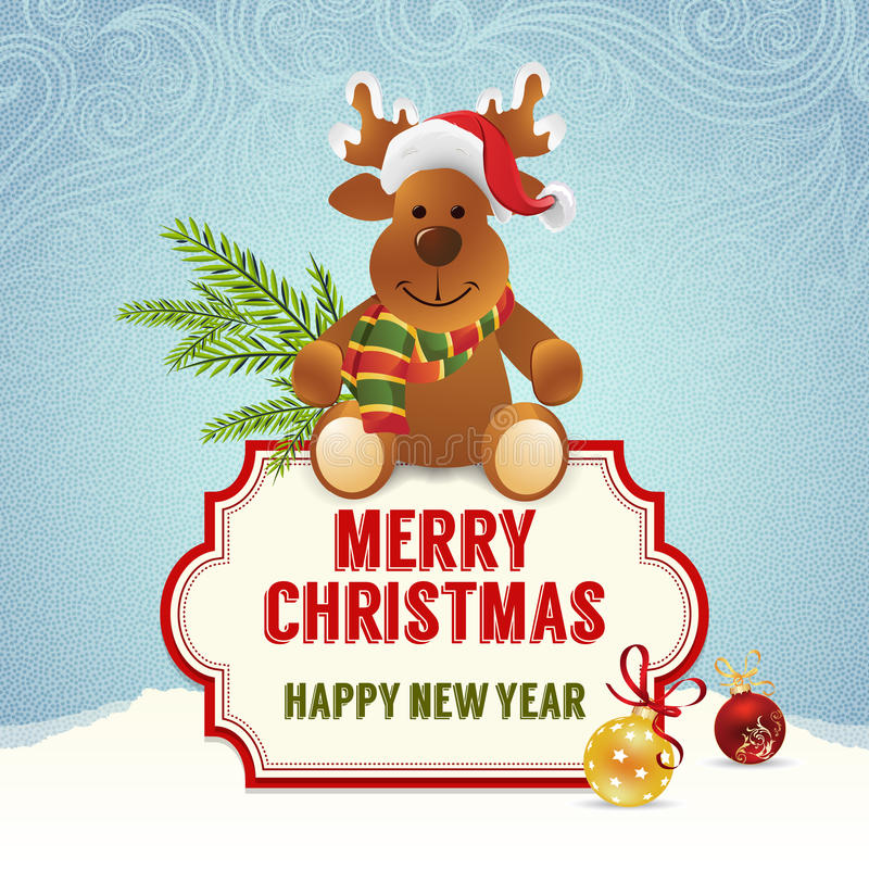 Download Christmas card stock illustration. Image of flakes, card - 35453647