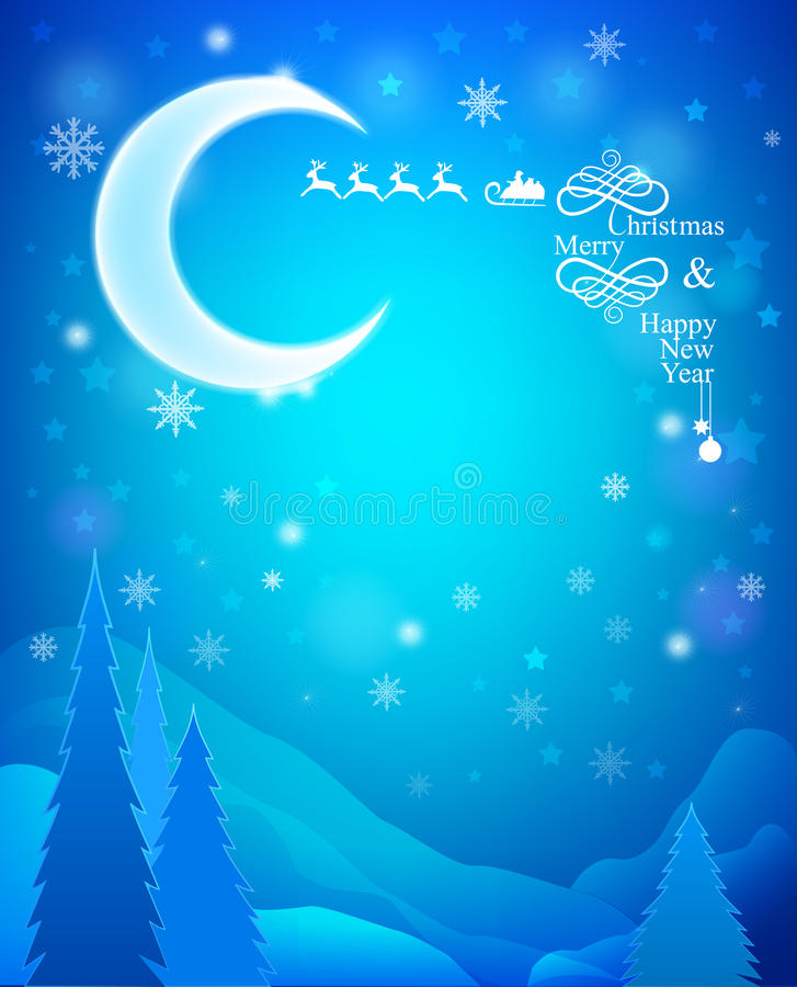 Download Christmas Card stock vector. Illustration of month, lunar - 34620126