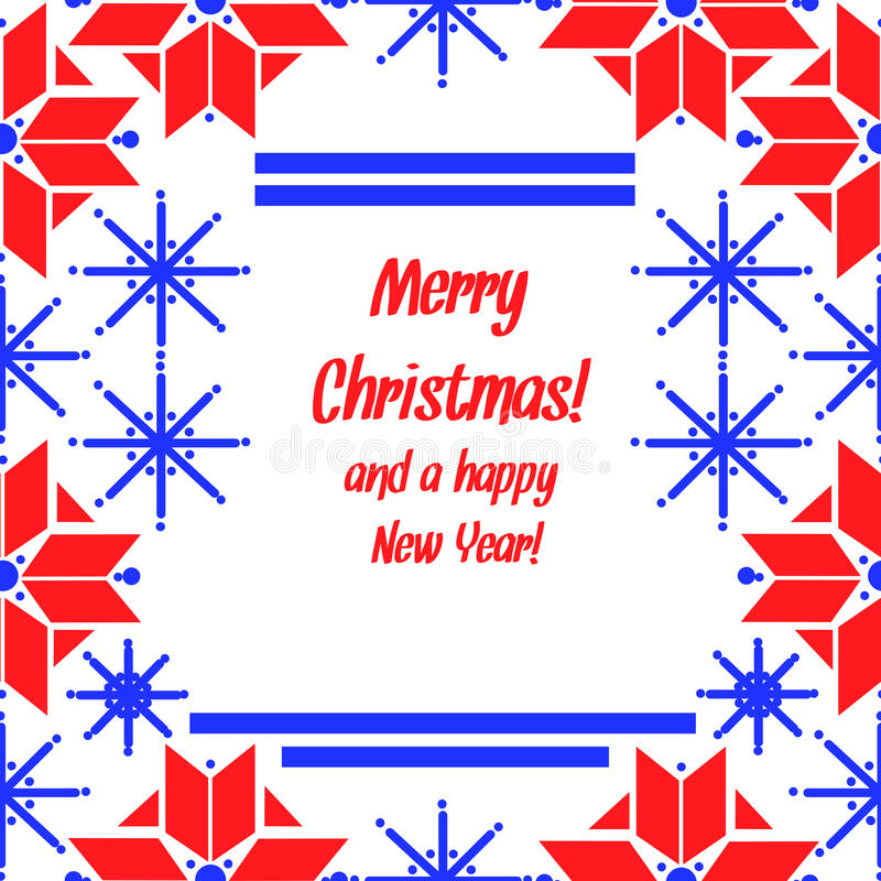 Download Christmas Card In Norvegian Style Stock Vector - Image: 21650387