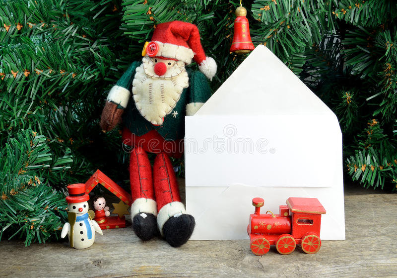 Christmas card note stock image