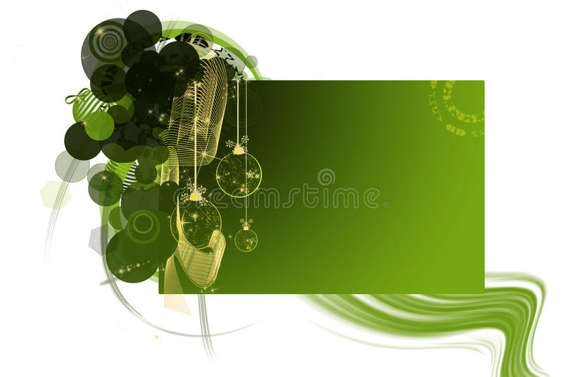 Download Christmas Card. Ornaments, Greens Text Stock Illustration - Image: 22237466