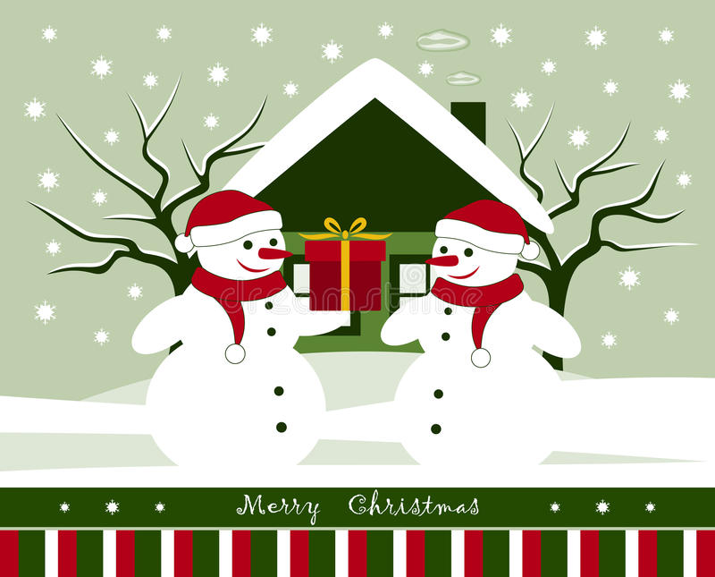Christmas card royalty free illustration
