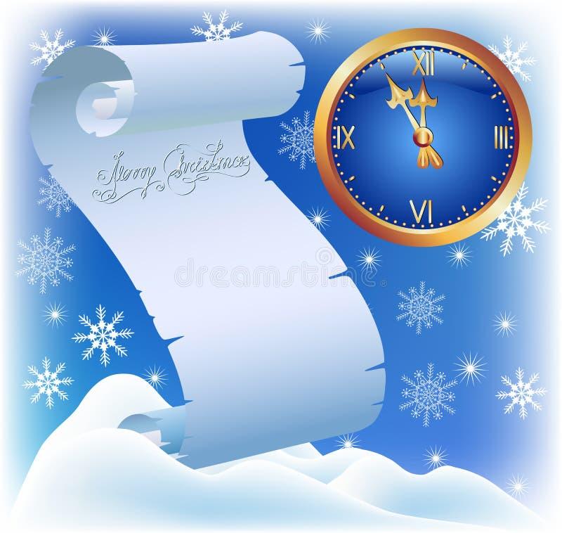 Christmas card. royalty free illustration