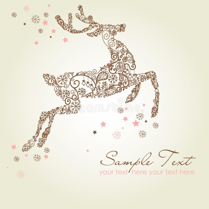 Free Christmas Card Reindeer Royalty Free Stock Photos - 21139398
