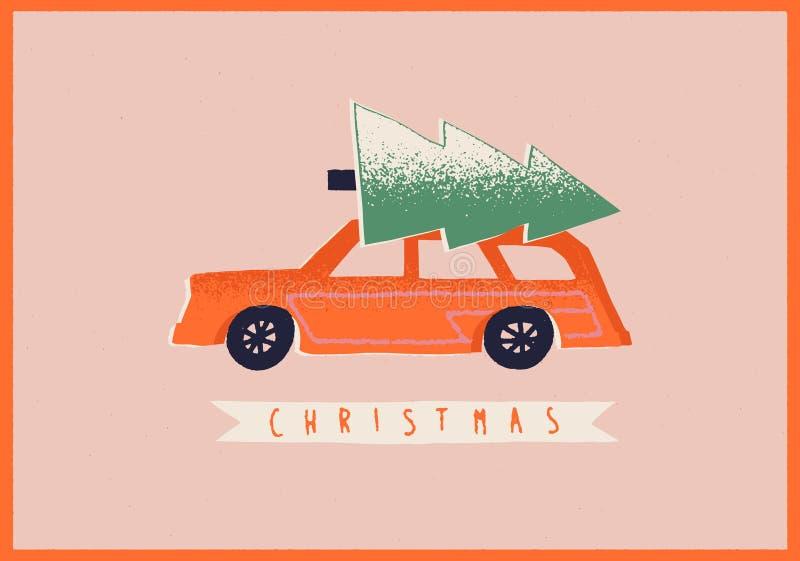 Car Christmas Card Stock Illustrations  U2013 4 042 Car