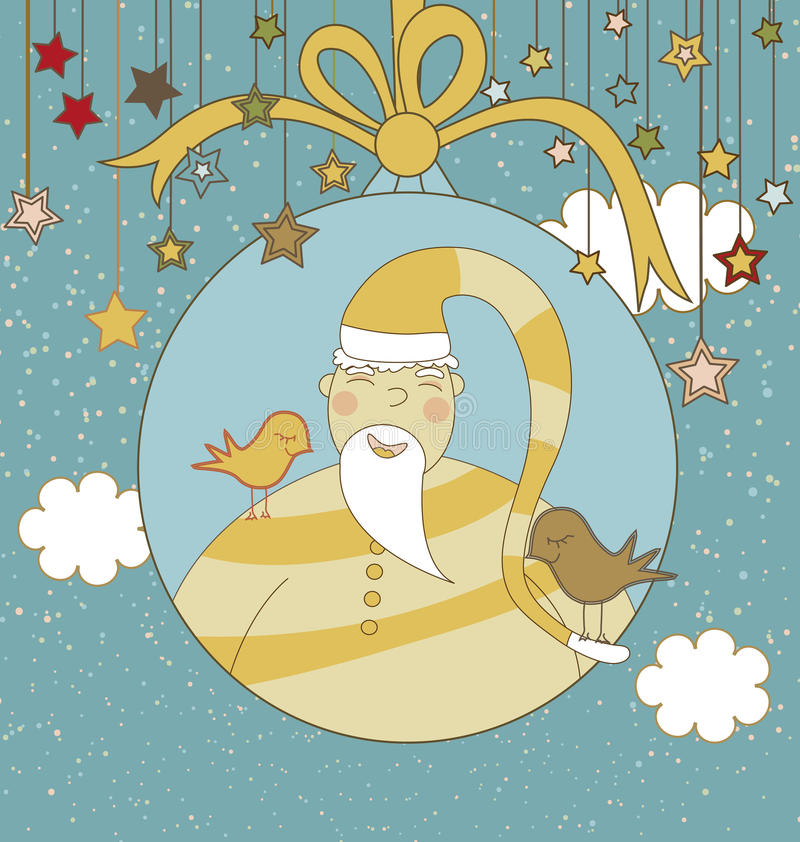 Download Christmas Card with Santa stock vector. Image of illustration - 17803558