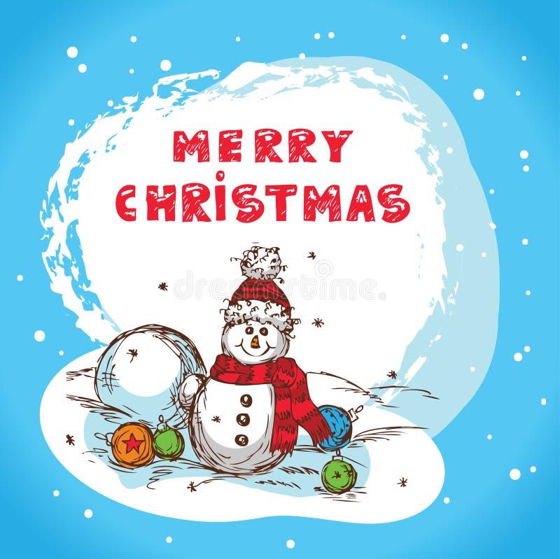 Christmas card santa claus stock illustration