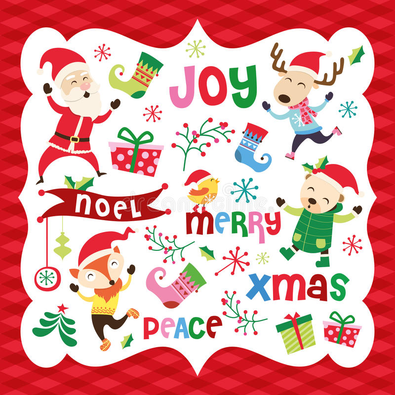 Download Christmas card stock vector. Image of countdown, merry - 32435982