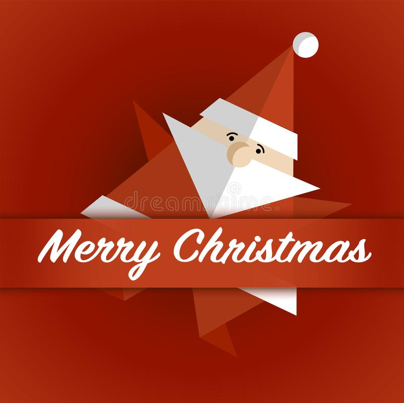 Christmas card with Santa Claus. Greeting card for the Christmas holidays vector illustration