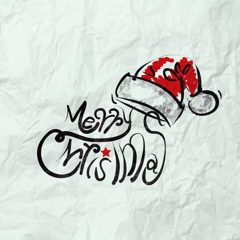 Christmas Card with Santa Claus hand drawn vector illustration