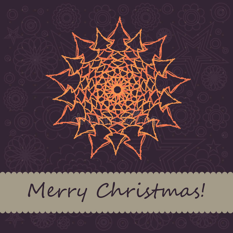 Download Christmas Card With Snowflake Stock Vector - Illustration: 21611656