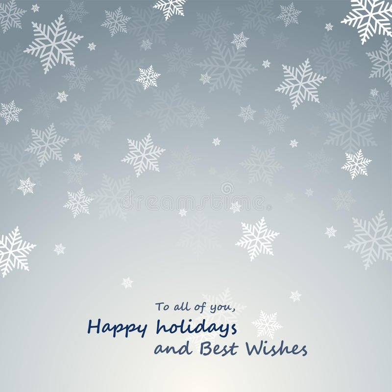 Christmas card with snowflakes. Christmas card with shining snowflakes royalty free illustration