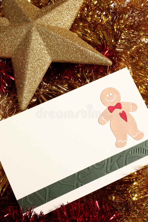 Christmas card with space stock photography