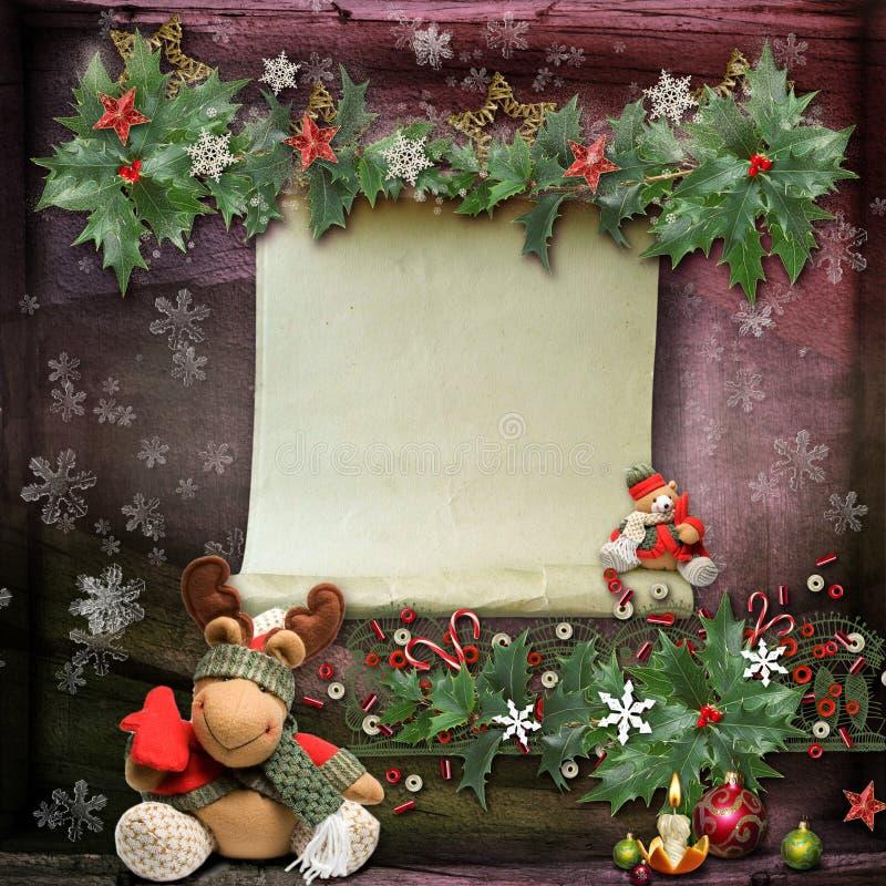 Christmas card royalty free illustration