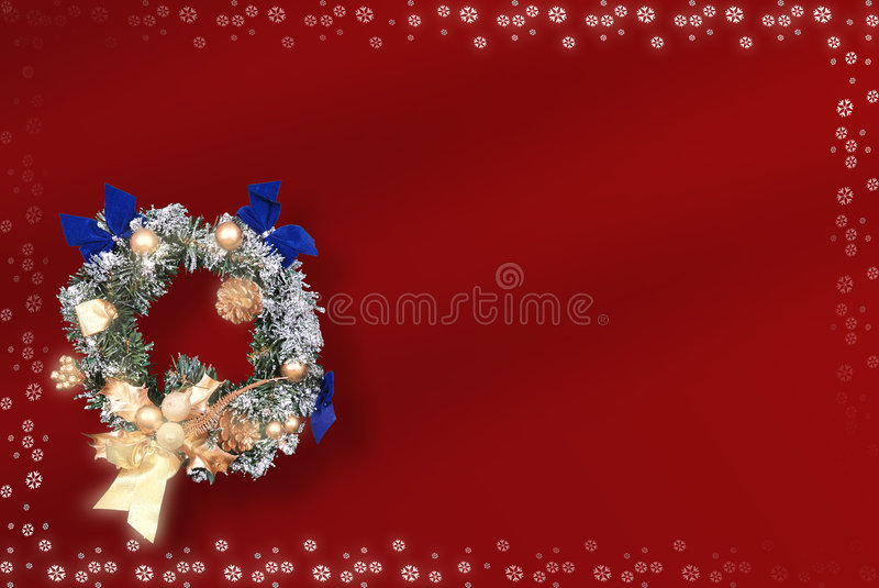 Christmas card with space for wishes stock illustration