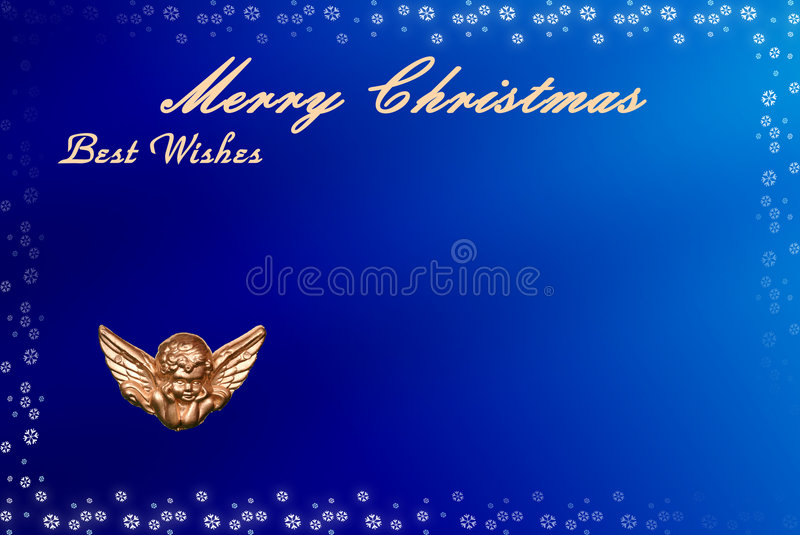 Christmas card with space for wishes royalty free illustration