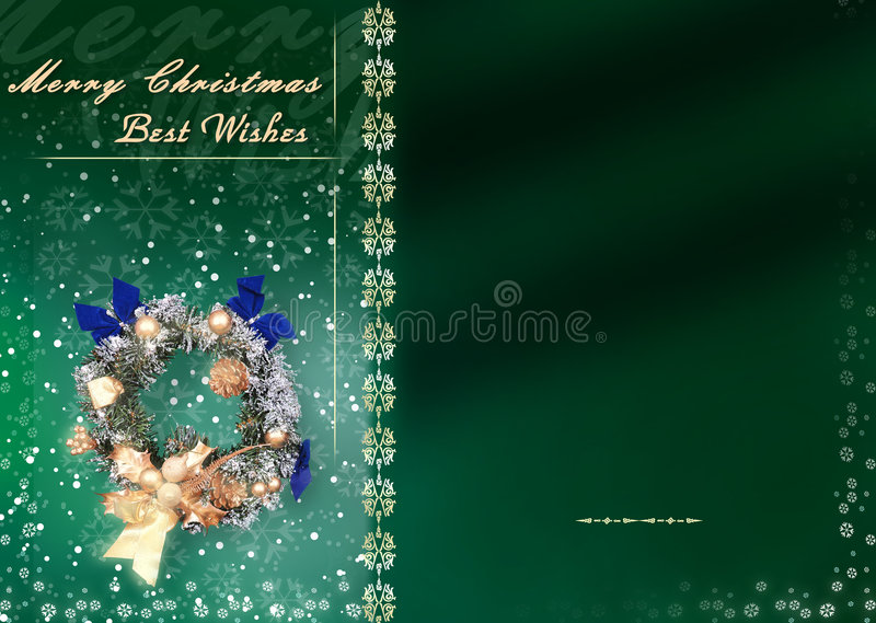 Download Christmas Card With Space For Wishes Stock Illustration - Image: 302950