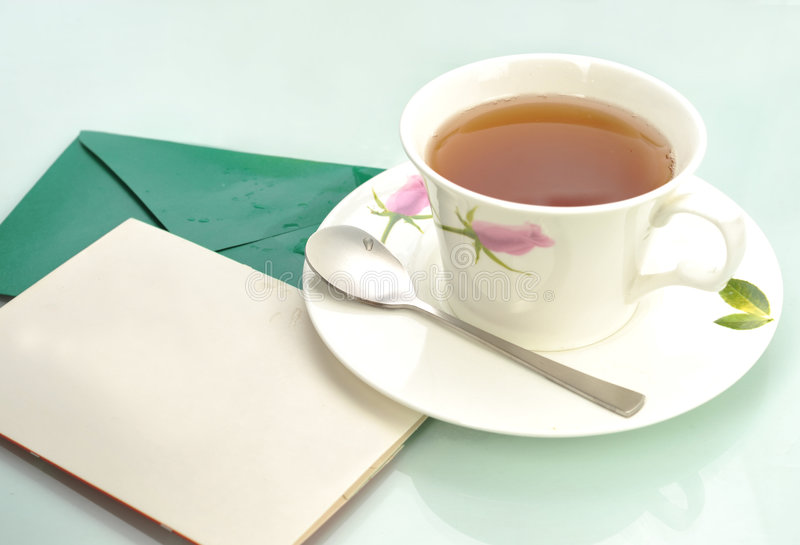 Download Christmas-card and tea stock image. Image of romantic - 9088593