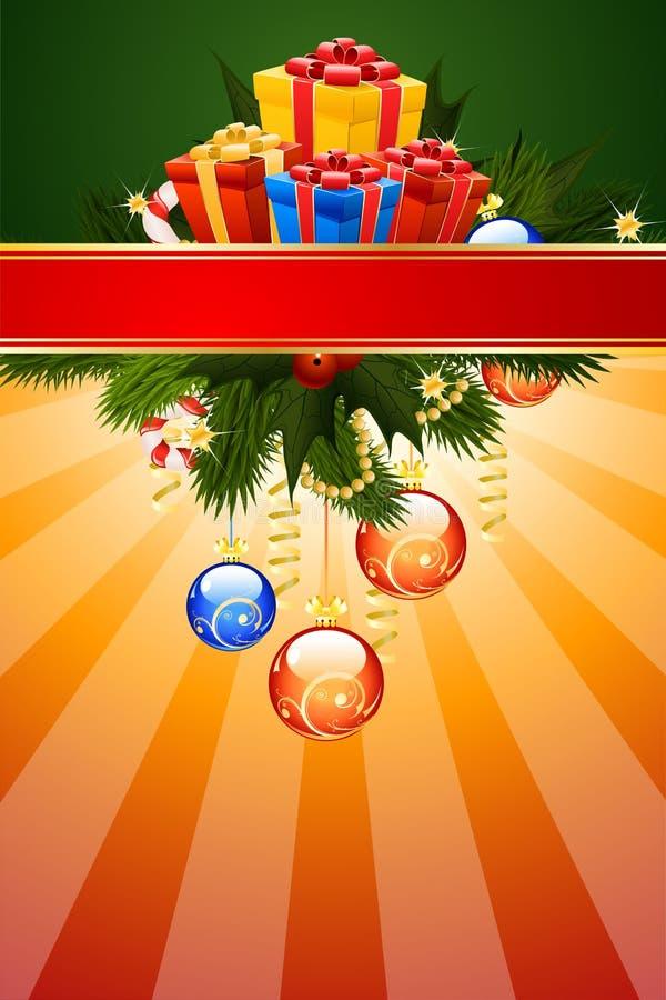 Christmas Card Template royalty free stock photos