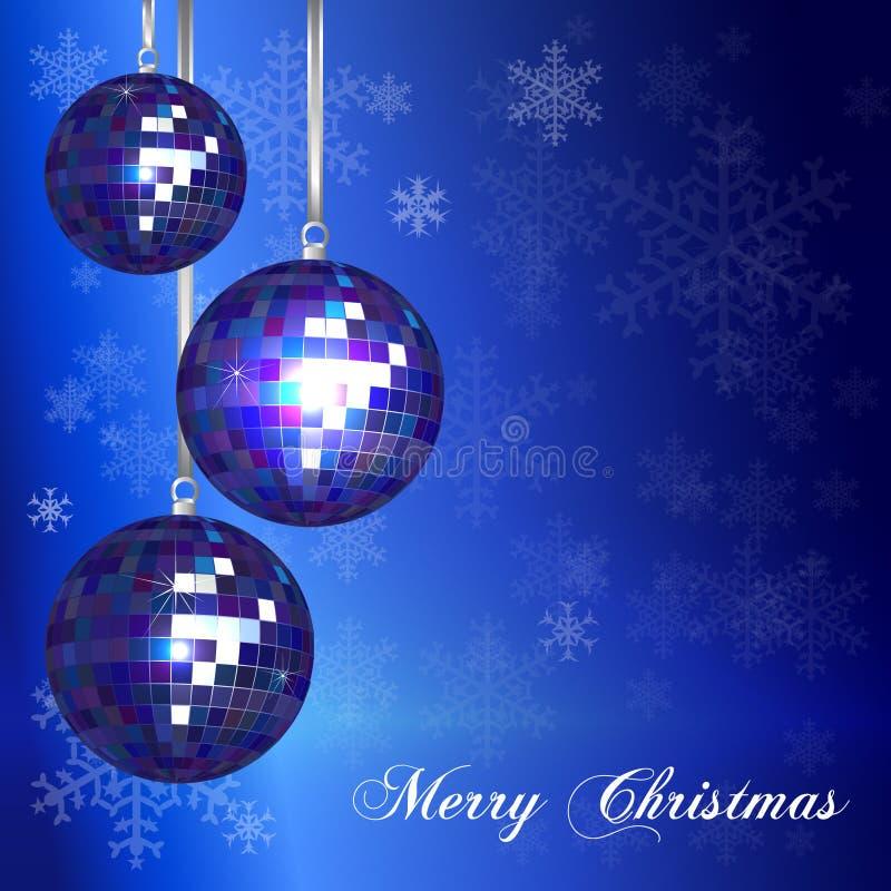Christmas Card Template Blue Stock Vector Illustration Of Ball - Christmas card template blue