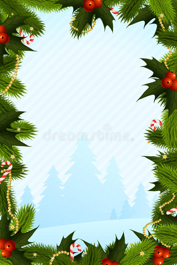 Christmas Card Template royalty free illustration