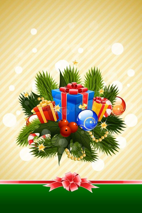 Christmas Card Template vector illustration