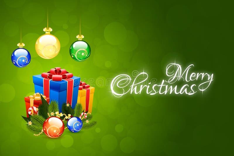 Christmas Card Template stock illustration