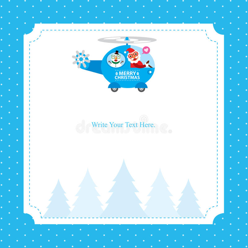 Christmas card template with Santa Claus royalty free illustration