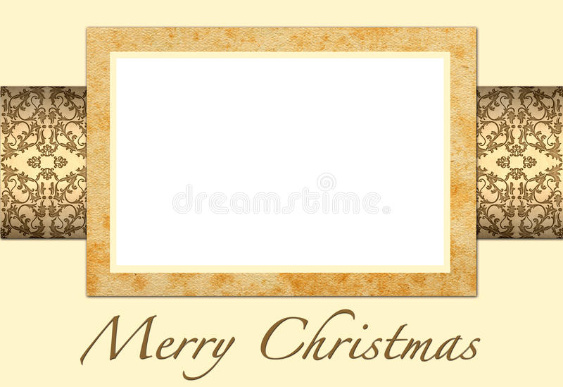 Christmas card to add your picture. Ilustration of Christmas card to add your picture royalty free illustration