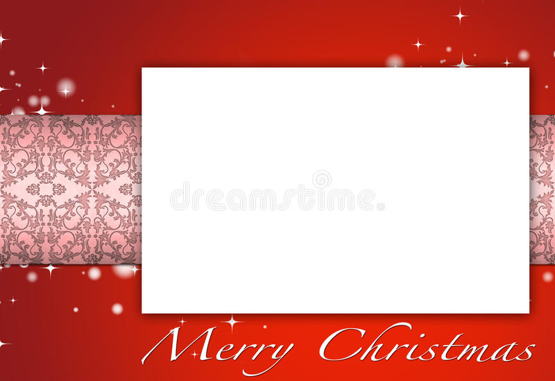 Christmas card to add your picture. Ilustration of Christmas card to add your picture vector illustration