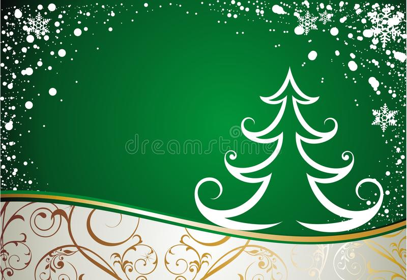 Download Christmas card with tree stock vector. Image of traditional - 21745639