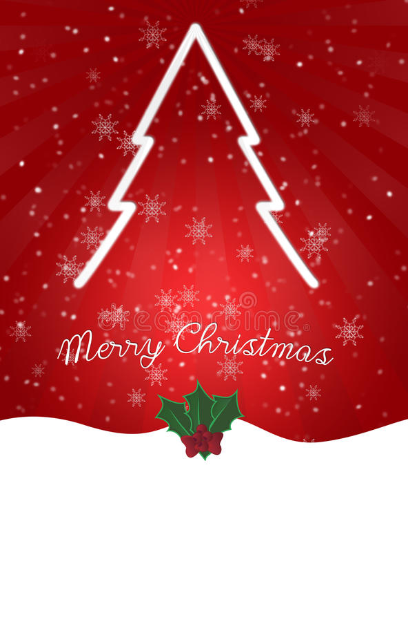 Christmas card Tree royalty free stock photo
