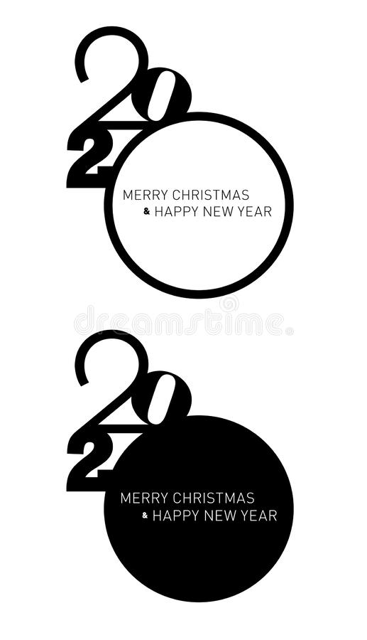 Christmas card 2020 in typographical design stock image