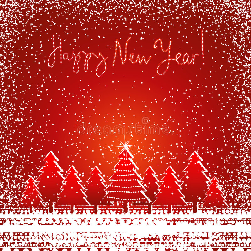 Download Christmas card, vector stock vector. Illustration of forest - 3256273